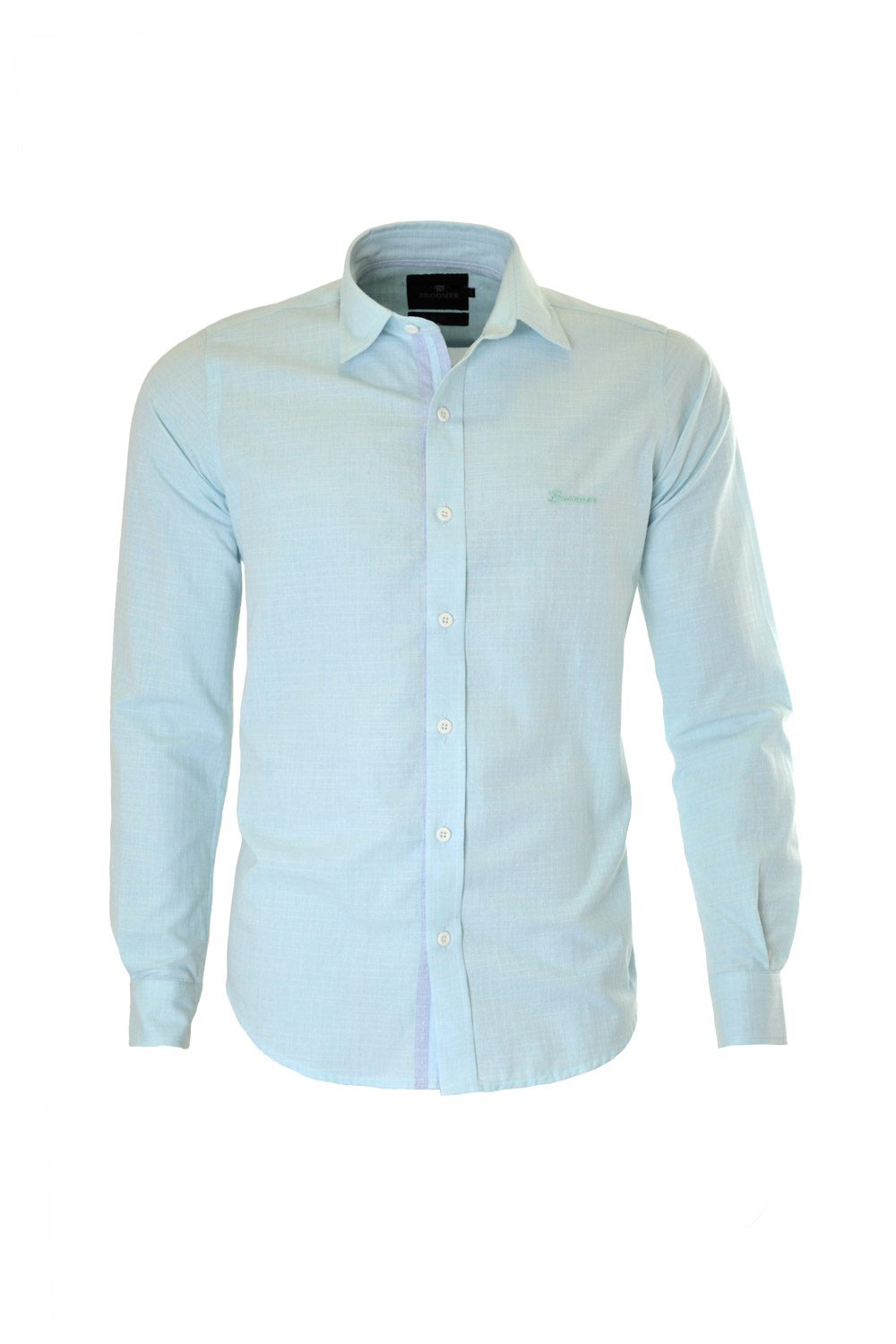 CAMISA ML FASHION SLIM ALGODAO COMPOSE FIL A FIL VERDE AGUA