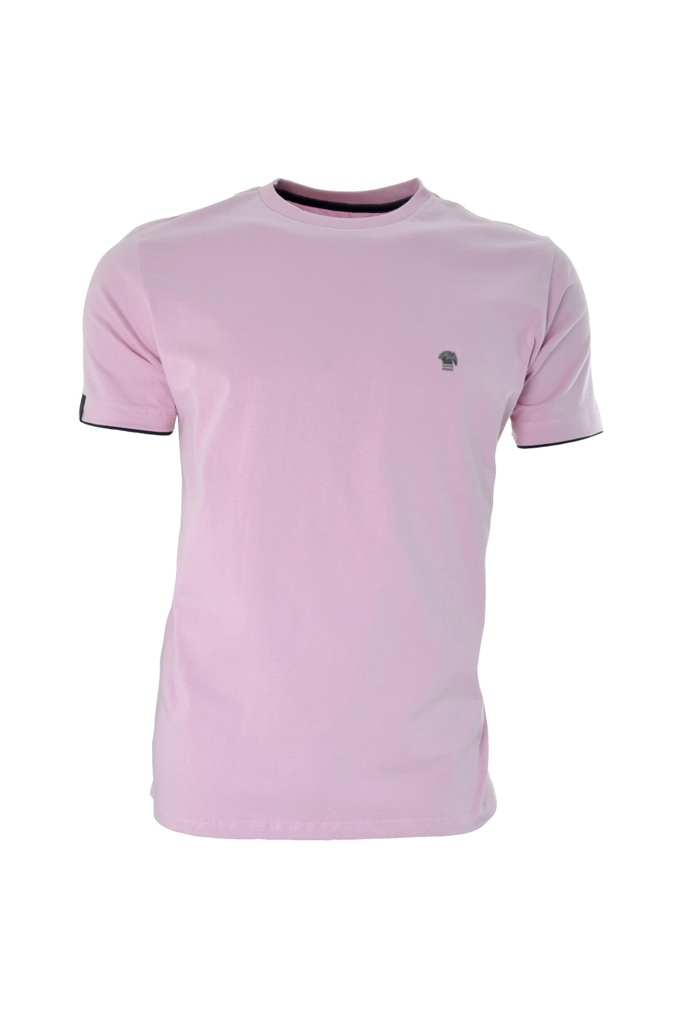 CAMISETA MC BLUES SUPER SLIM ALGODAO GOLA C LISO ROSA CLARO