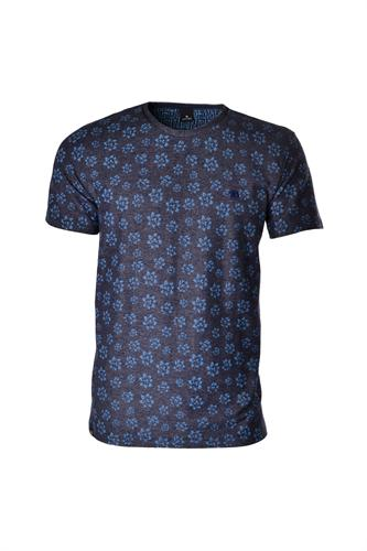 CAMISETA MC BLUES SLIM POLIALGODAO & ELASTANO COMPOSE ESTAMPA AZUL MEDIO