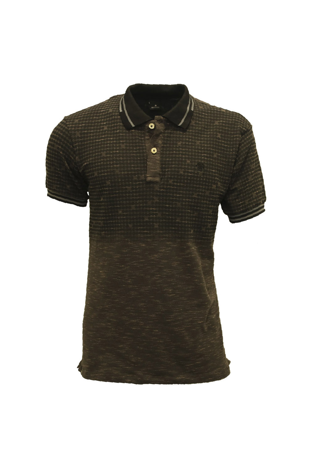 POLO MC CASUAL SLIM POLIALGODAO COMPOSE ESTAMPA PRETO