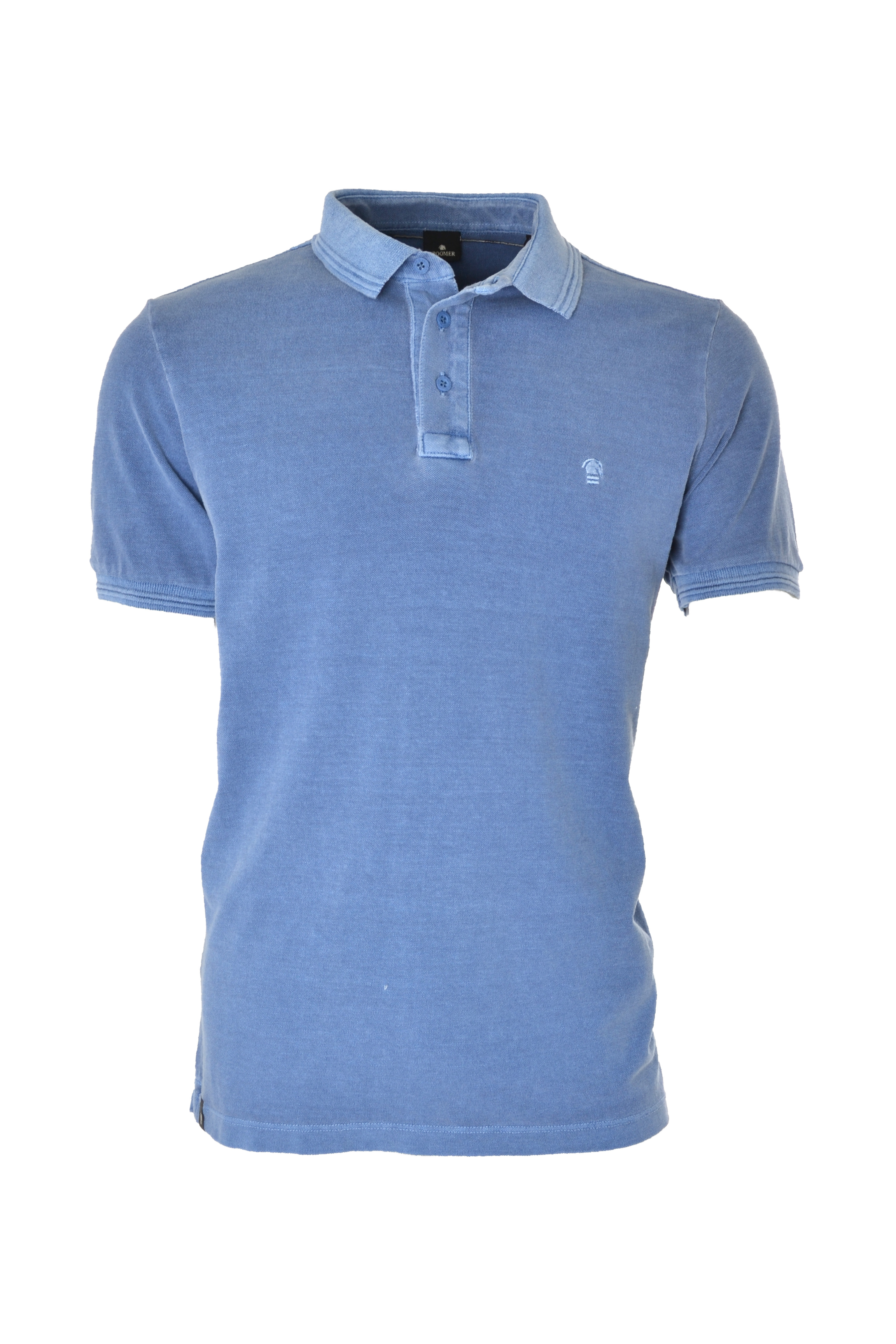 POLO MC CASUAL SLIM ALGODAO PIQUET LISO AZUL ESCURO