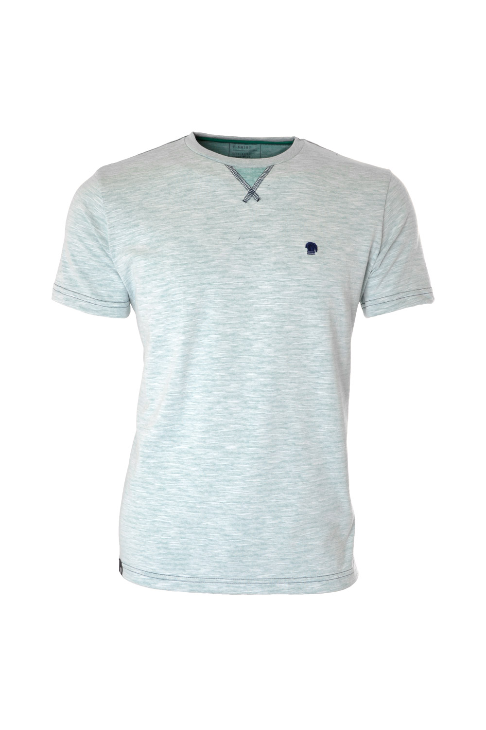 CAMISETA MC BLUES SUPER SLIM ALGODAO GOLA C FLAME VERDE CLARO