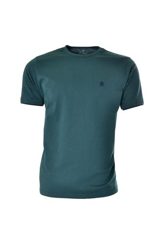 CAMISETA MC BLUES SUPER SLIM ALGODAO GOLA C LISO VERDE ESCURO