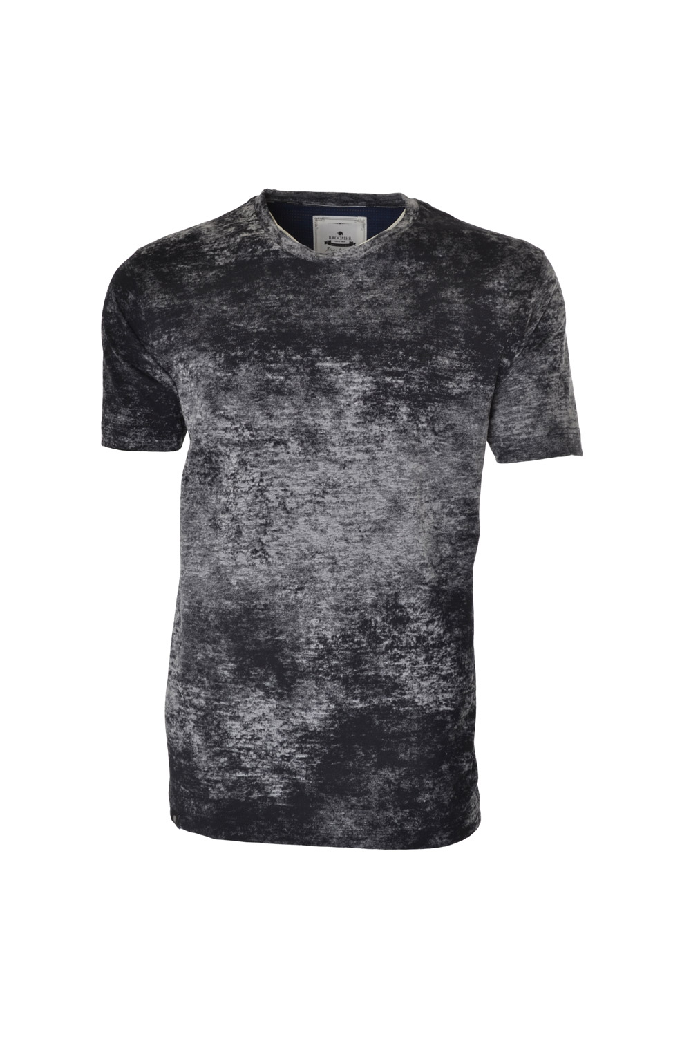 CAMISETA MC BLUES SUPER SLIM ALGODAO GOLA C TEXTURIZADO PRETO