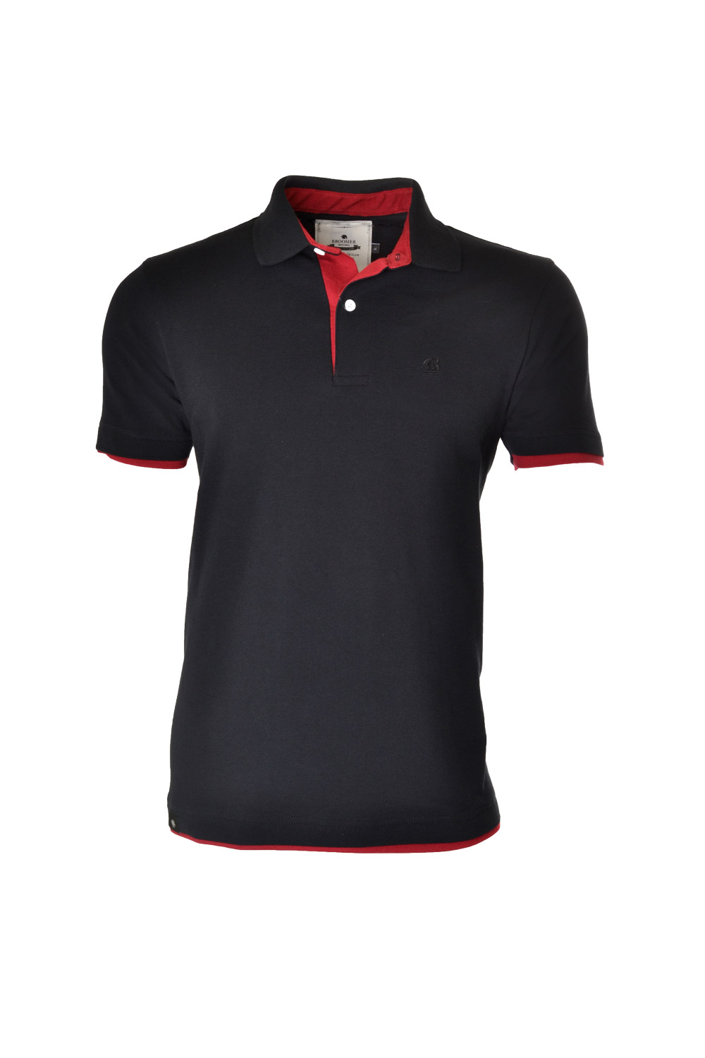 POLO MC CASUAL SUPER SLIM ALGODAO & ELASTANO PIQUET LISO PRETO