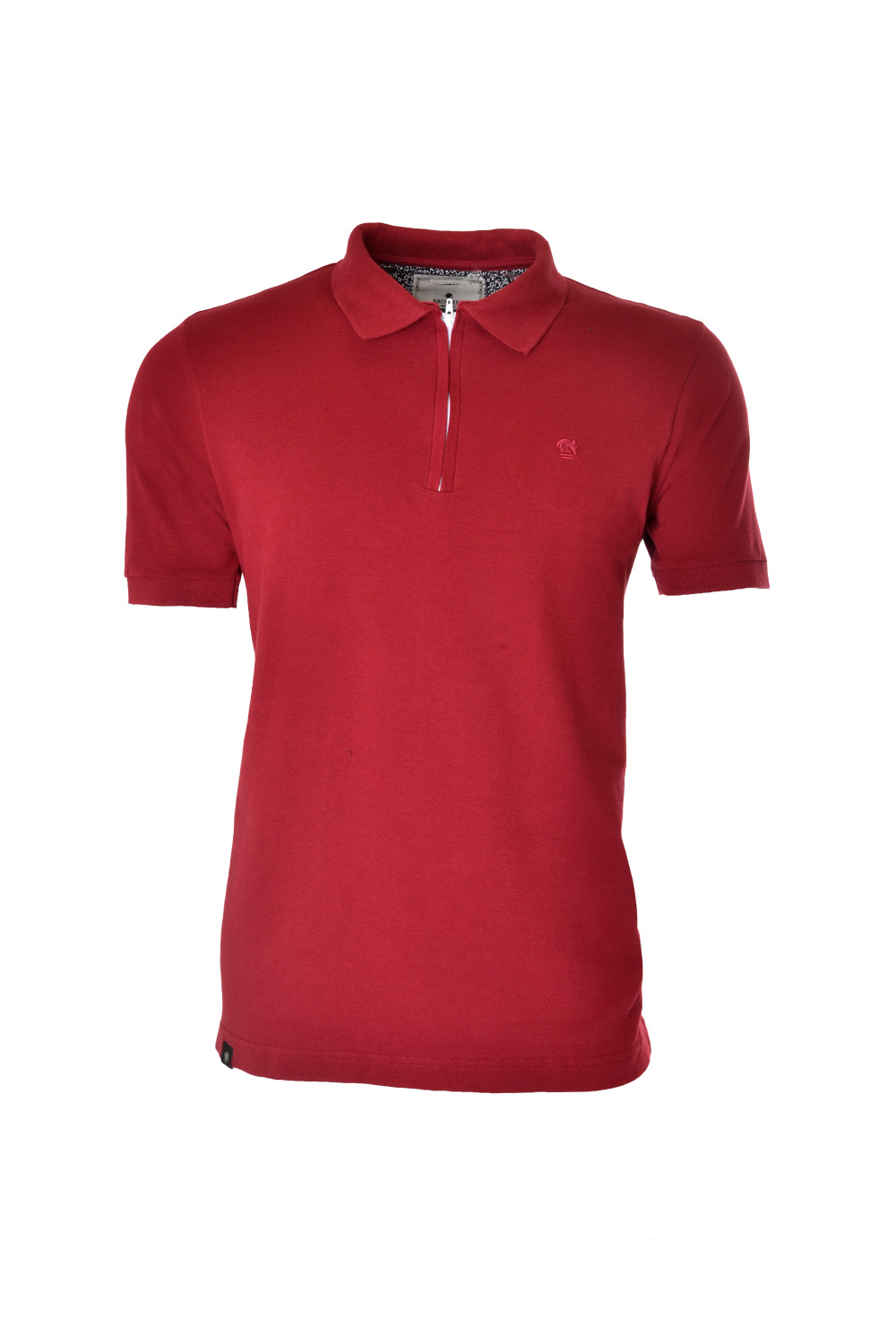POLO MC CASUAL SUPER SLIM ALGODAO & ELASTANO PIQUET LISO BORDO