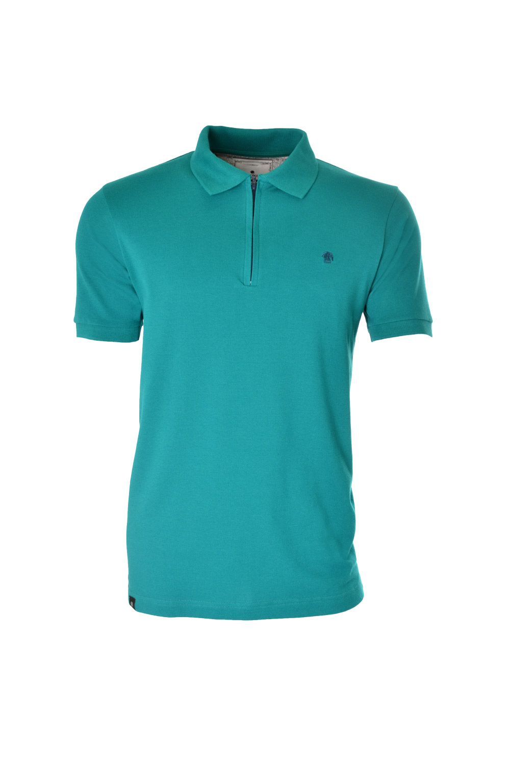 POLO MC CASUAL SUPER SLIM ALGODAO & ELASTANO PIQUET LISO VERDE MEDIO