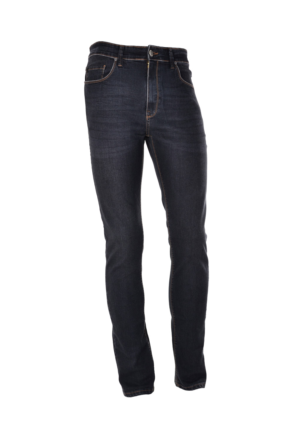 CALÇA JEANS BLUES POLIALGODAO & ELASTANO STRETCH STONED BLACK*