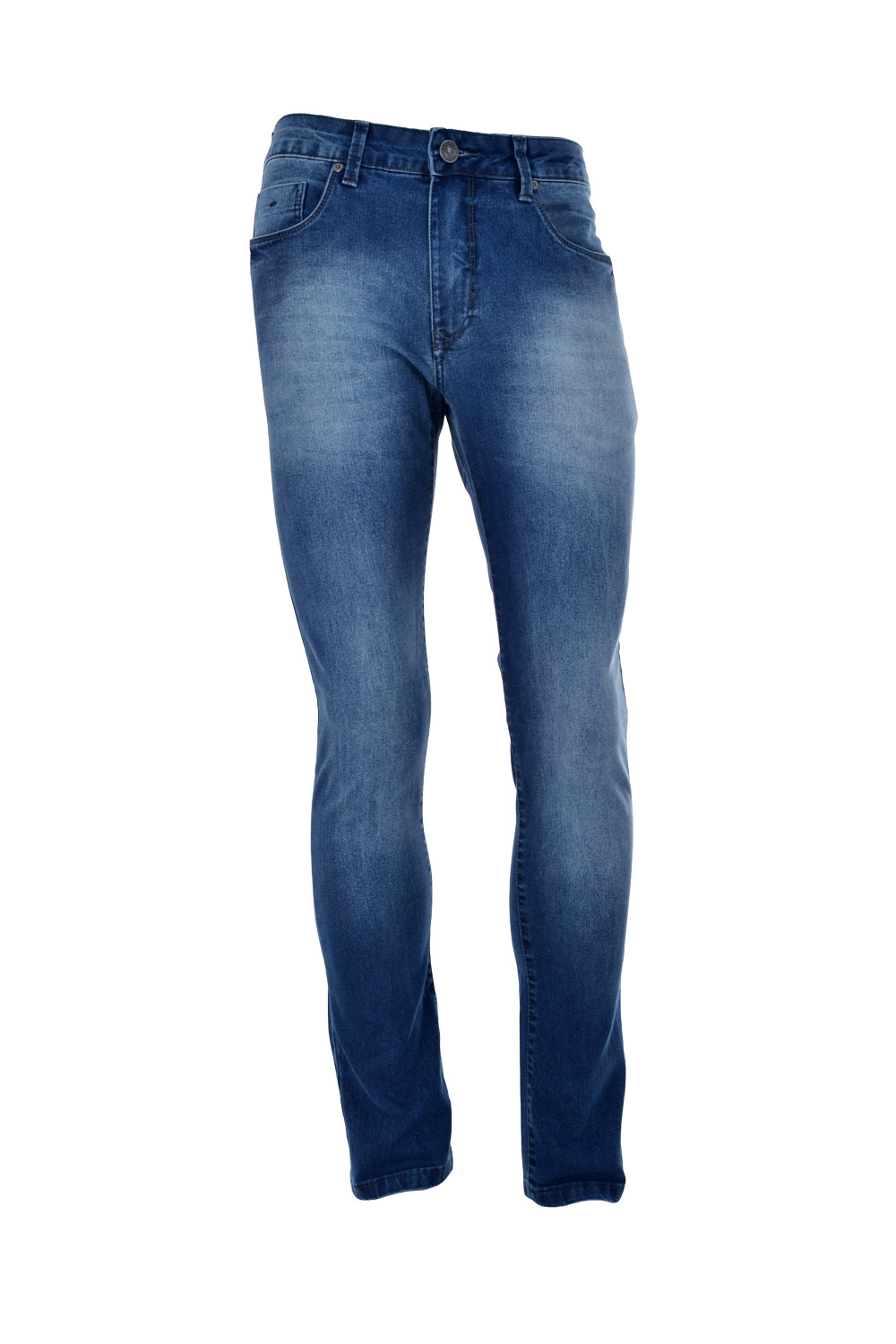 CALÇA JEANS BLUES ALGODAO & ELASTANO 5 POCKETS STONED DESTROYED