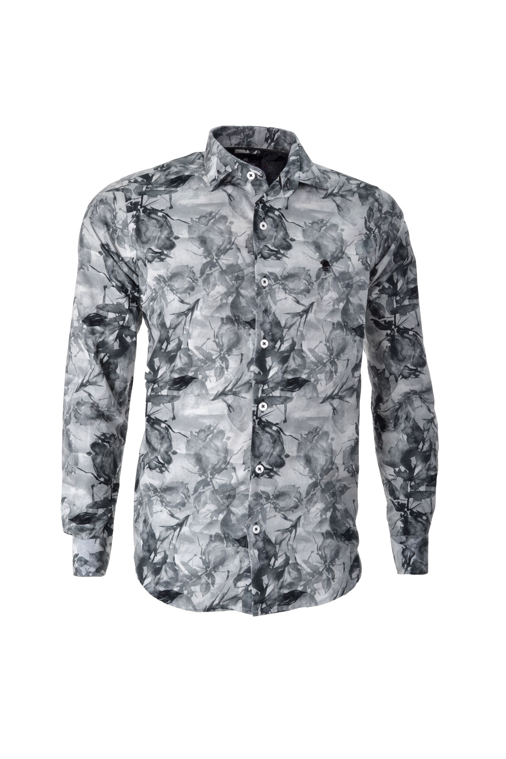 CAMISA ML FASHION ALGODAO FIO TINTO ESTAMPA WATERCOLOR