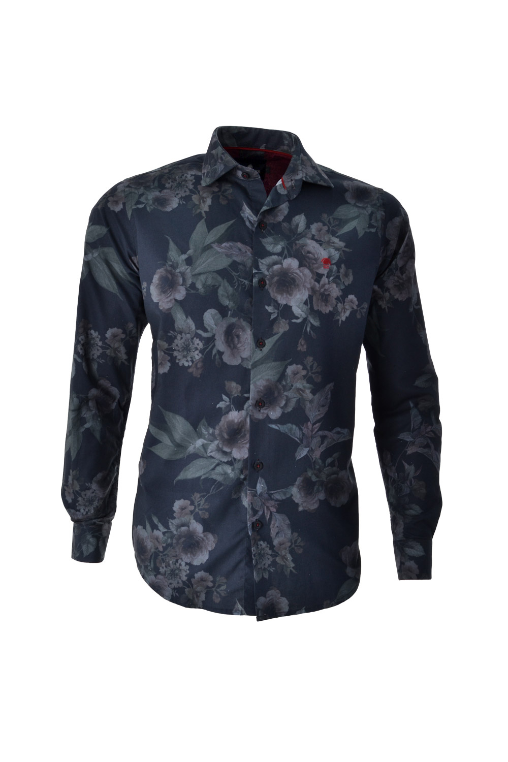 CAMISA ML FASHION ALGODAO FIO TINTO ESTAMPA FLORAL