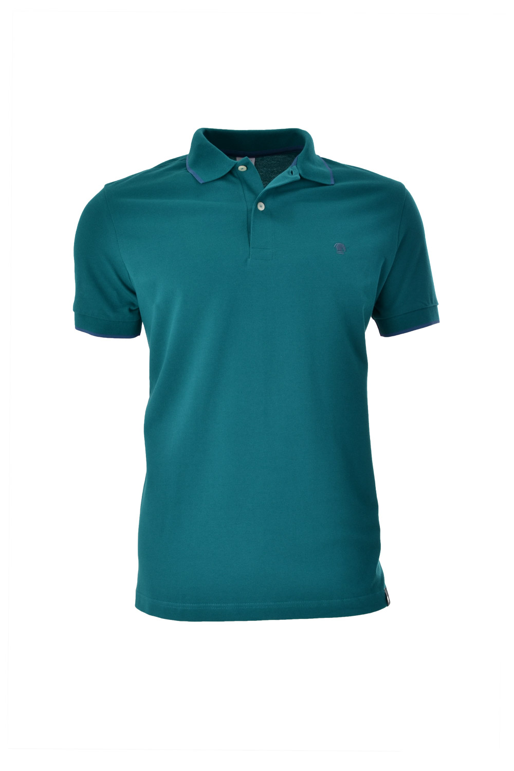 POLO MC CASUAL SLIM ALGODAO & ELASTANO STRETCH PIQUET VERDE MEDIO