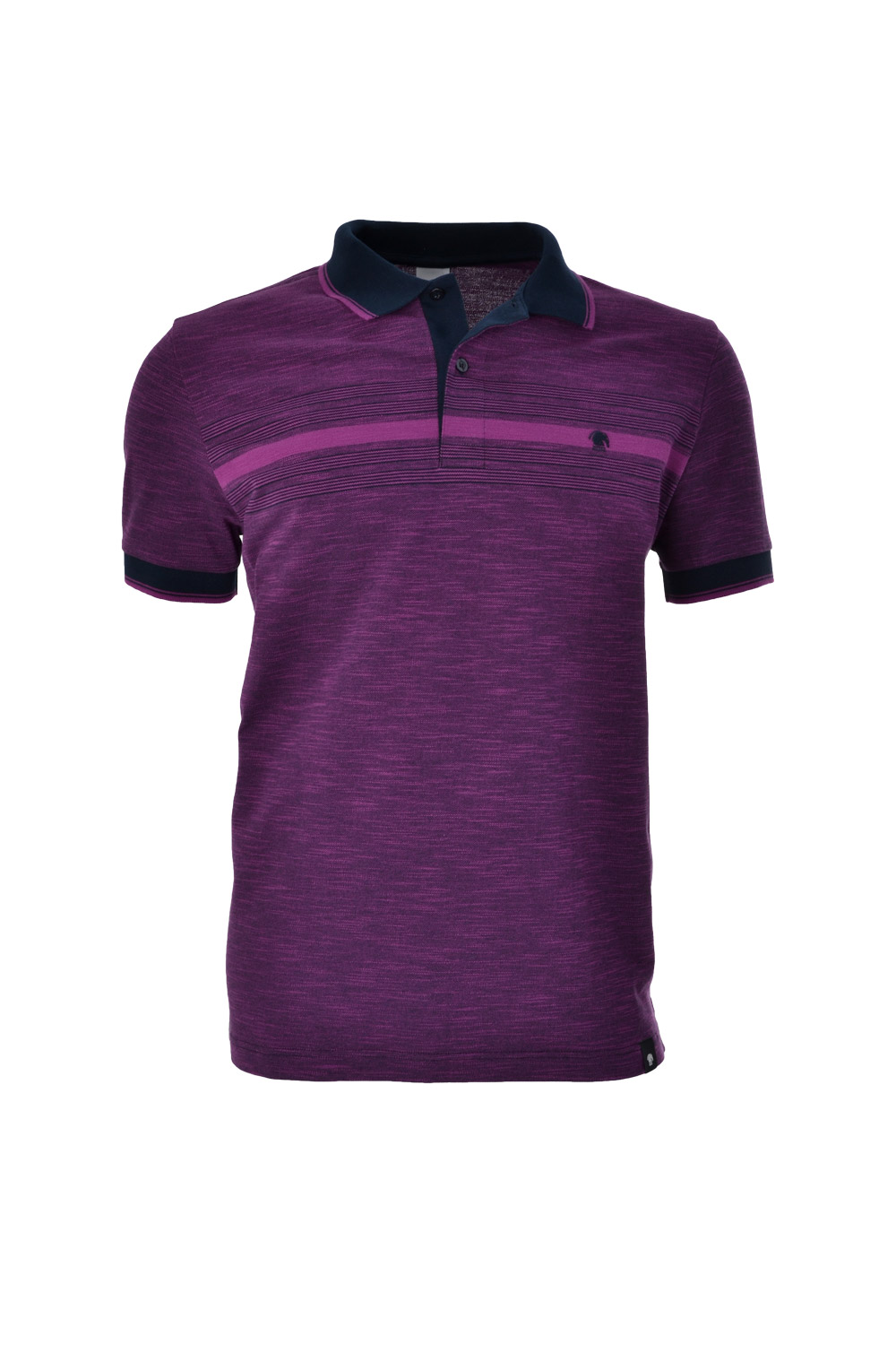 POLO MC CASUAL SLIM ALGODAO & ELASTANO STRETCH PIQUET ROXO ESCURO