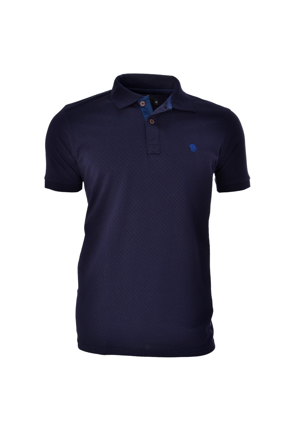 POLO MC BLUES POLIALGODAO FIO TINTO LISO CHEVRON