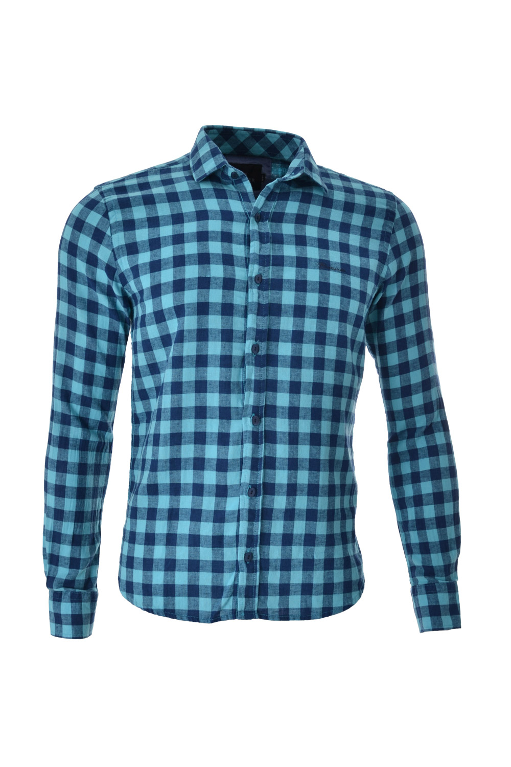 CAMISA ML BLUES ALGODAO LINHO TRENDY XADREZ LIGHT