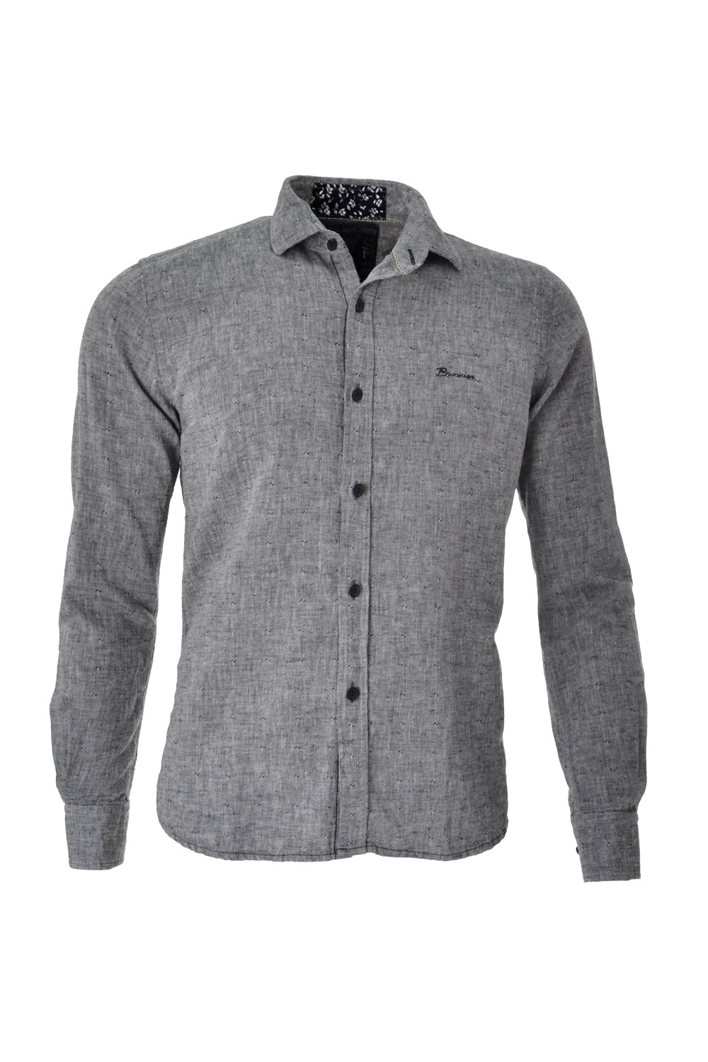 CAMISA ML BLUES ALGODAO LINHO TRENDY MAQUINETADA SHADOW