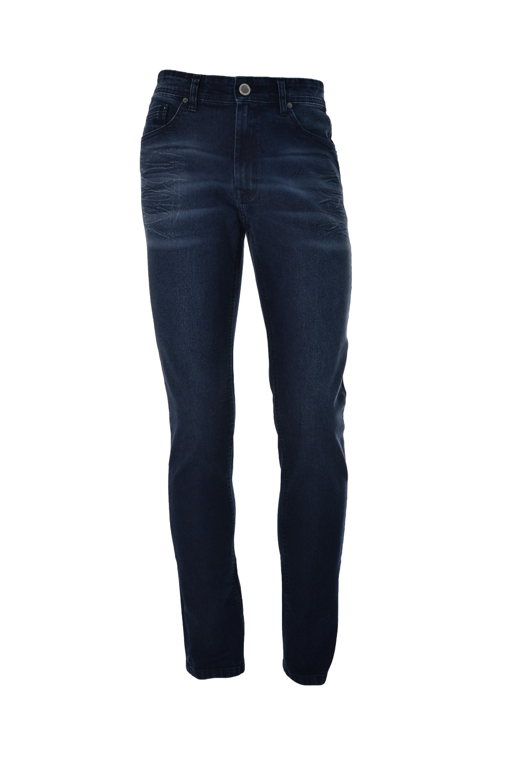 CALÇA JEANS BLUES POLIALGODAO & ELASTANO 5 POCKETS STONED USED