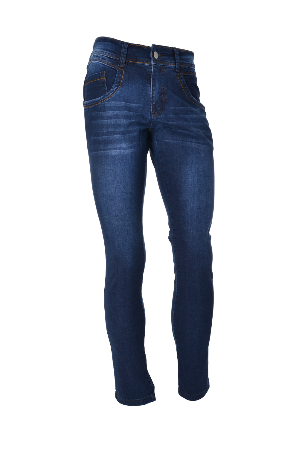 CALÇA JEANS BLUES ALGODAO & ELASTANO STRETCH STONED USED
