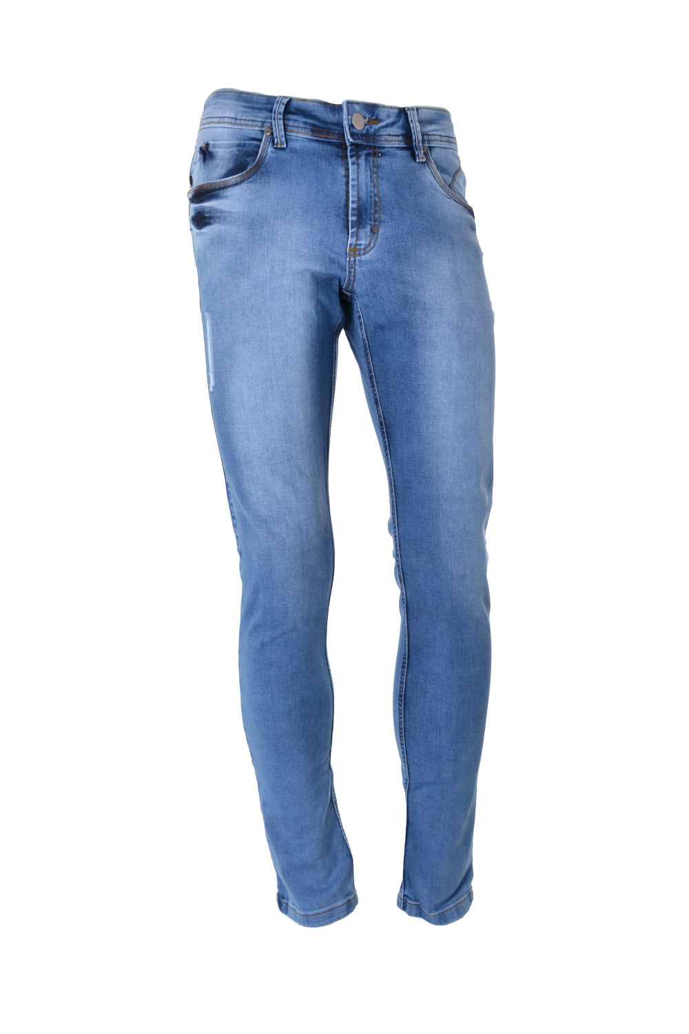 CALÇA JEANS BLUES ALGODAO & ELASTANO STRETCH STONED DESTROYED