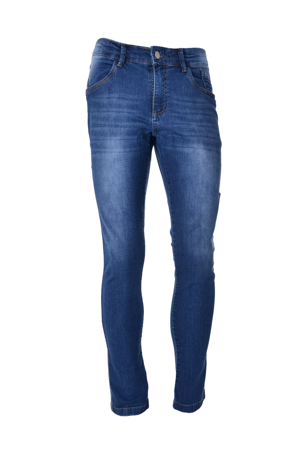 CALÇA JEANS BLUES ALGODAO & ELASTANO STRETCH STONED DESGASTE