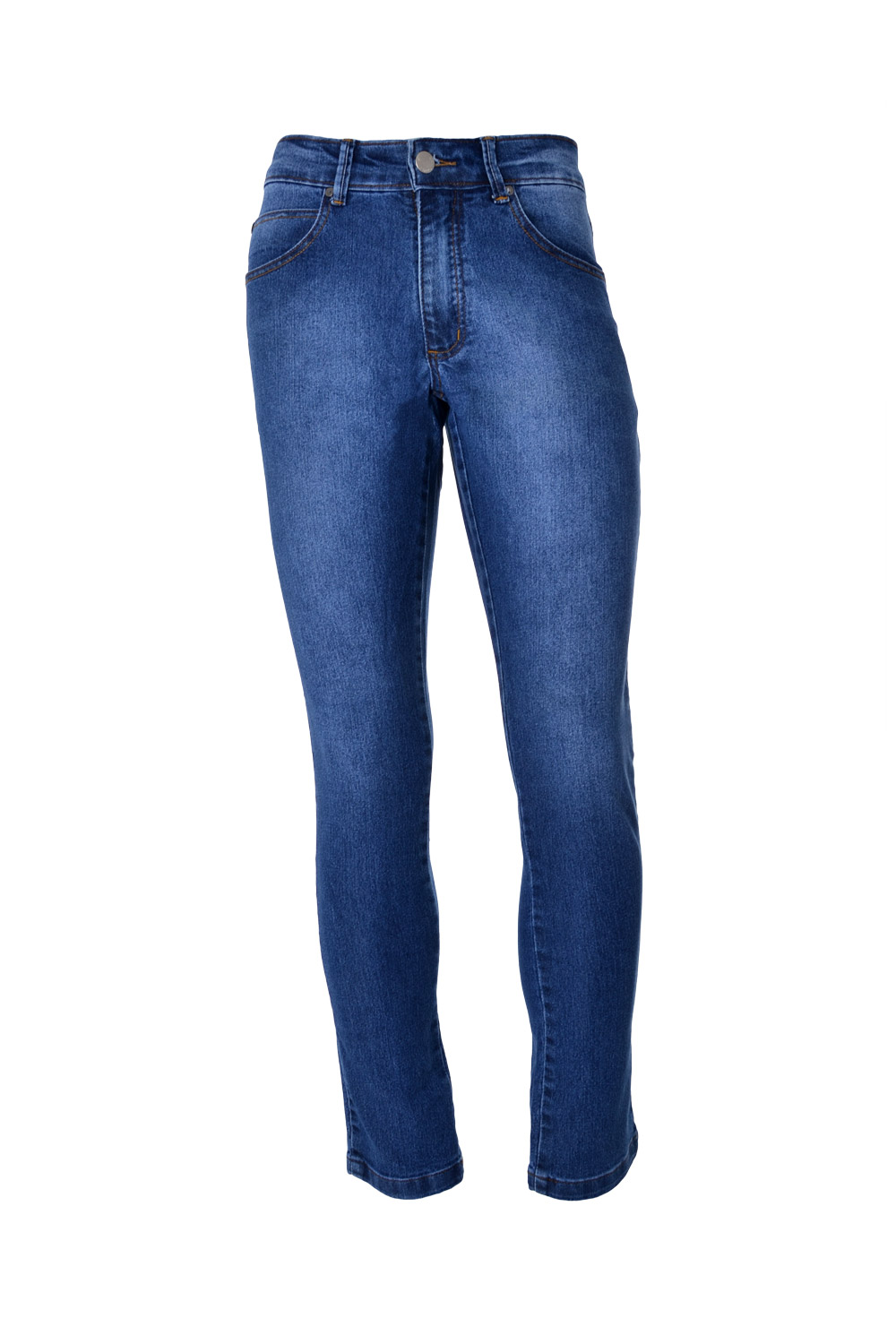 CALÇA JEANS BLUES POLIALGODAO & ELASTANO STRETCH STONED BLUE