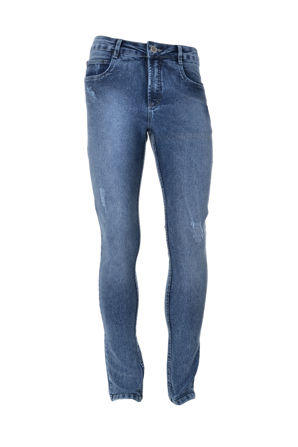 CALÇA JEANS BLUES POLIALGODAO & ELASTANO STRETCH DESTROYED LIGHT