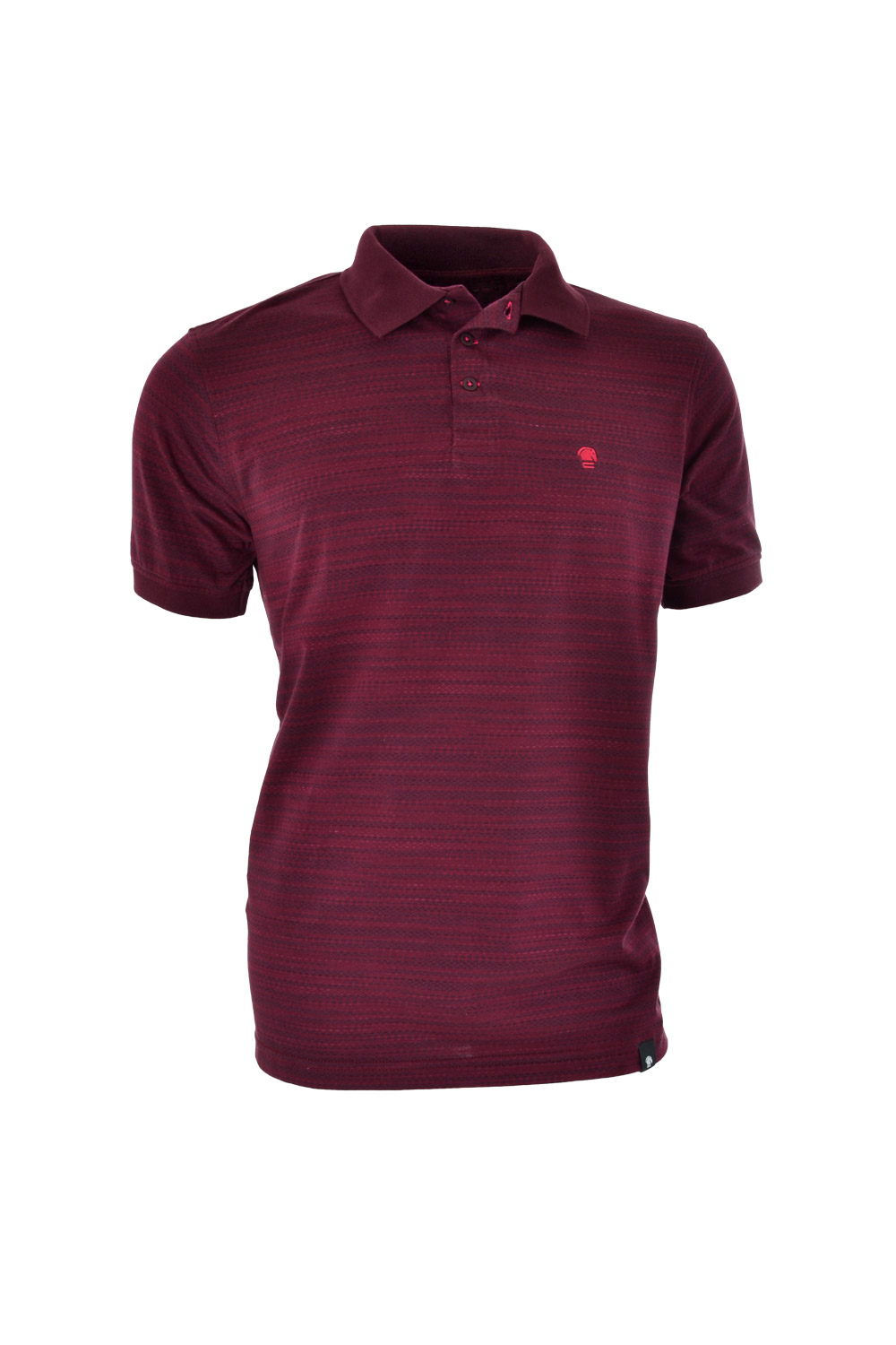 POLO MC CASUAL SLIM POLIALGODAO FIO TINTO MAQUINETADA BORDO