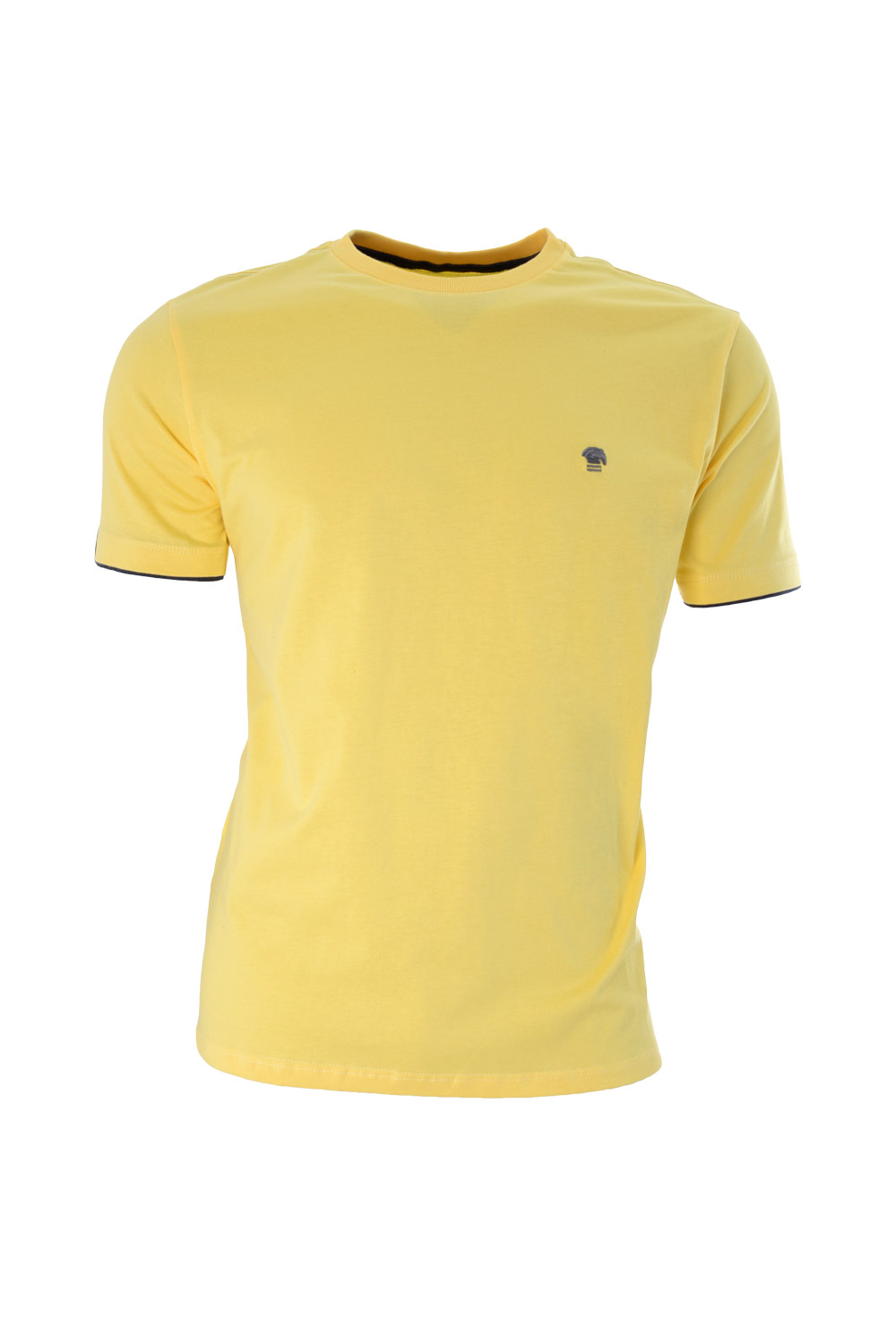 CAMISETA MC BLUES SUPER SLIM ALGODAO GOLA C LISO AMARELO CLARO