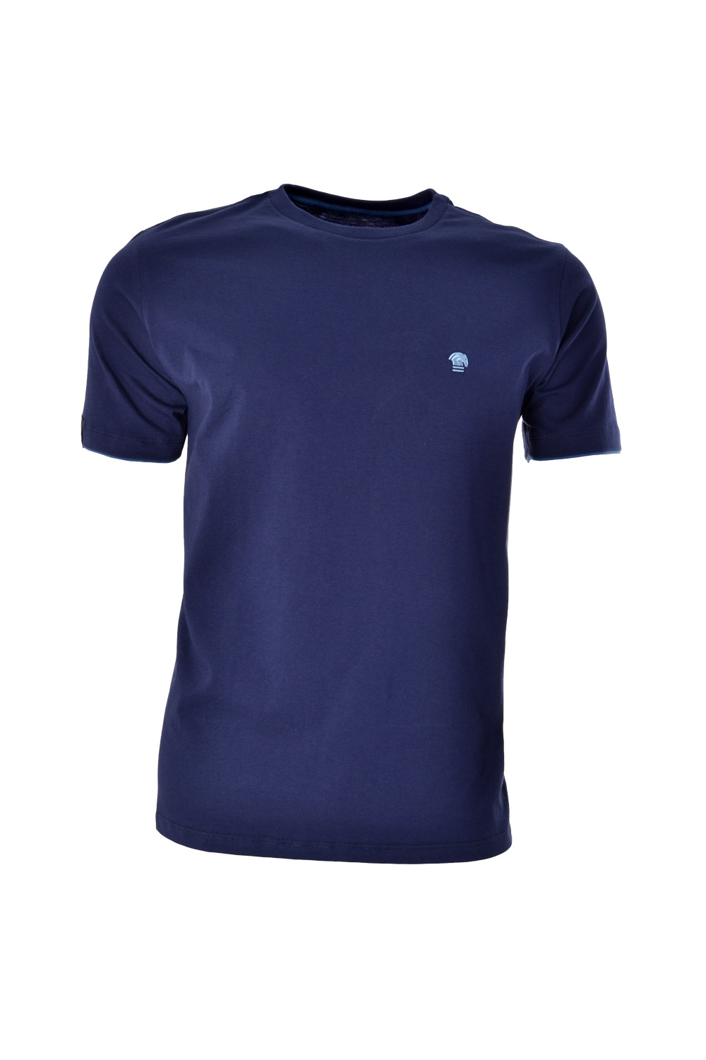 CAMISETA MC BLUES SUPER SLIM ALGODAO GOLA C LISO AZUL MARINHO