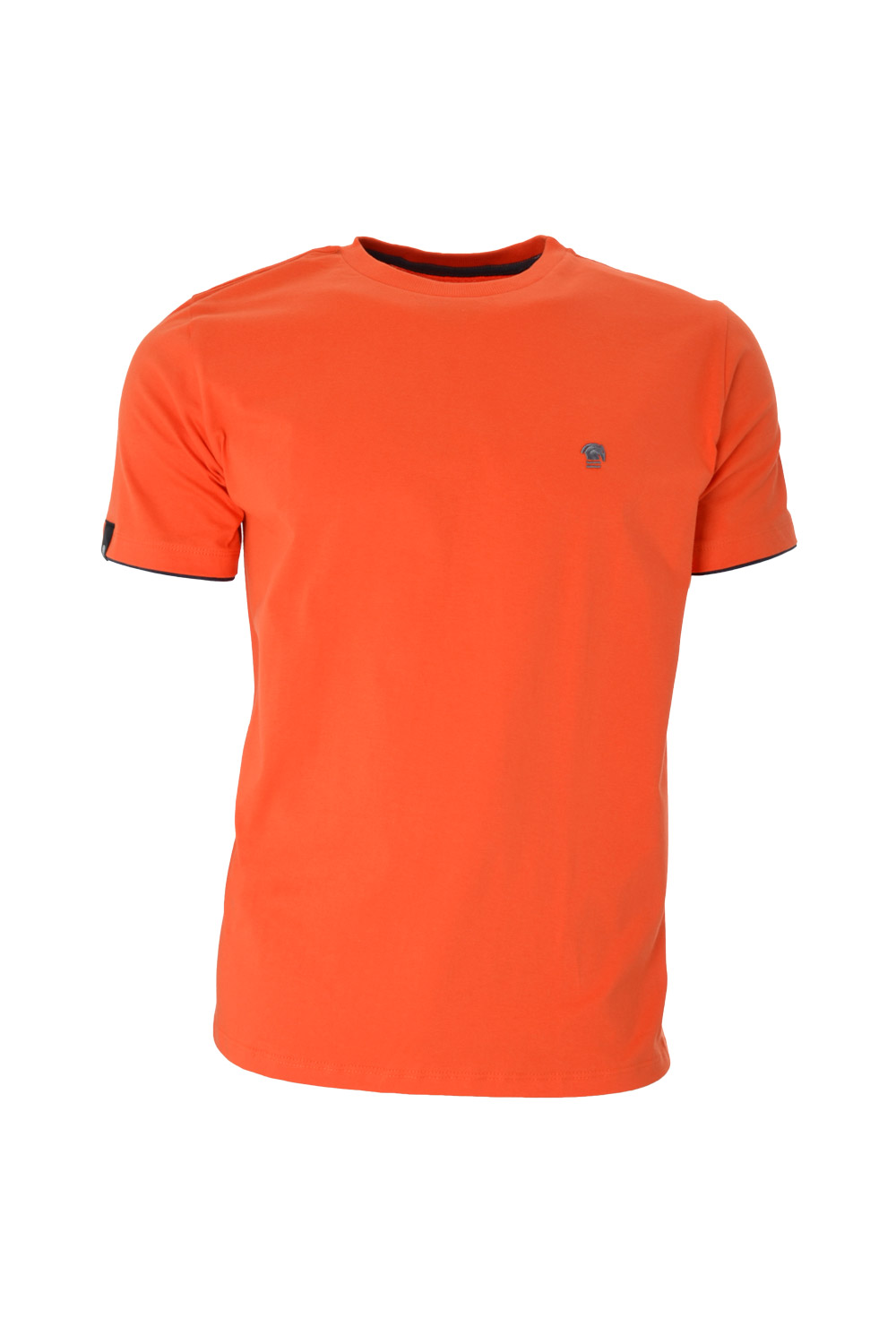 CAMISETA MC BLUES SUPER SLIM ALGODAO GOLA C LISO LARANJA MEDIO