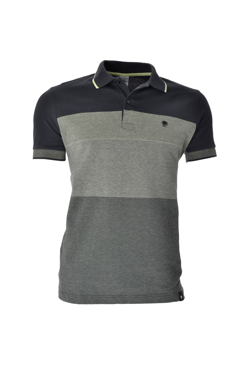 POLO MC CASUAL SLIM ALGODAO & ELASTANO BINADO STRETCH PIQUET VERDE MEDIO