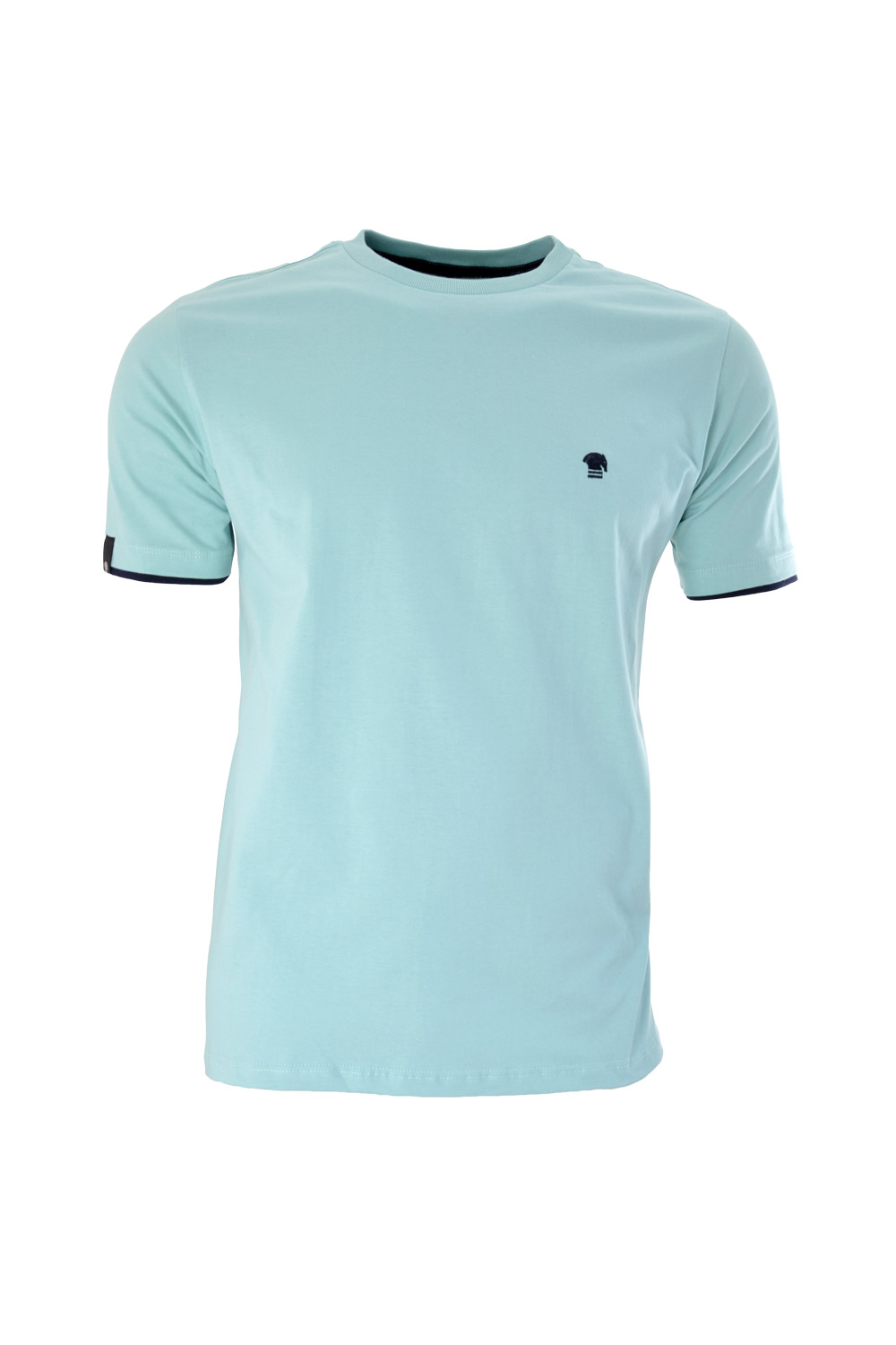 CAMISETA MC BLUES SUPER SLIM ALGODAO GOLA C LISO VERDE AGUA
