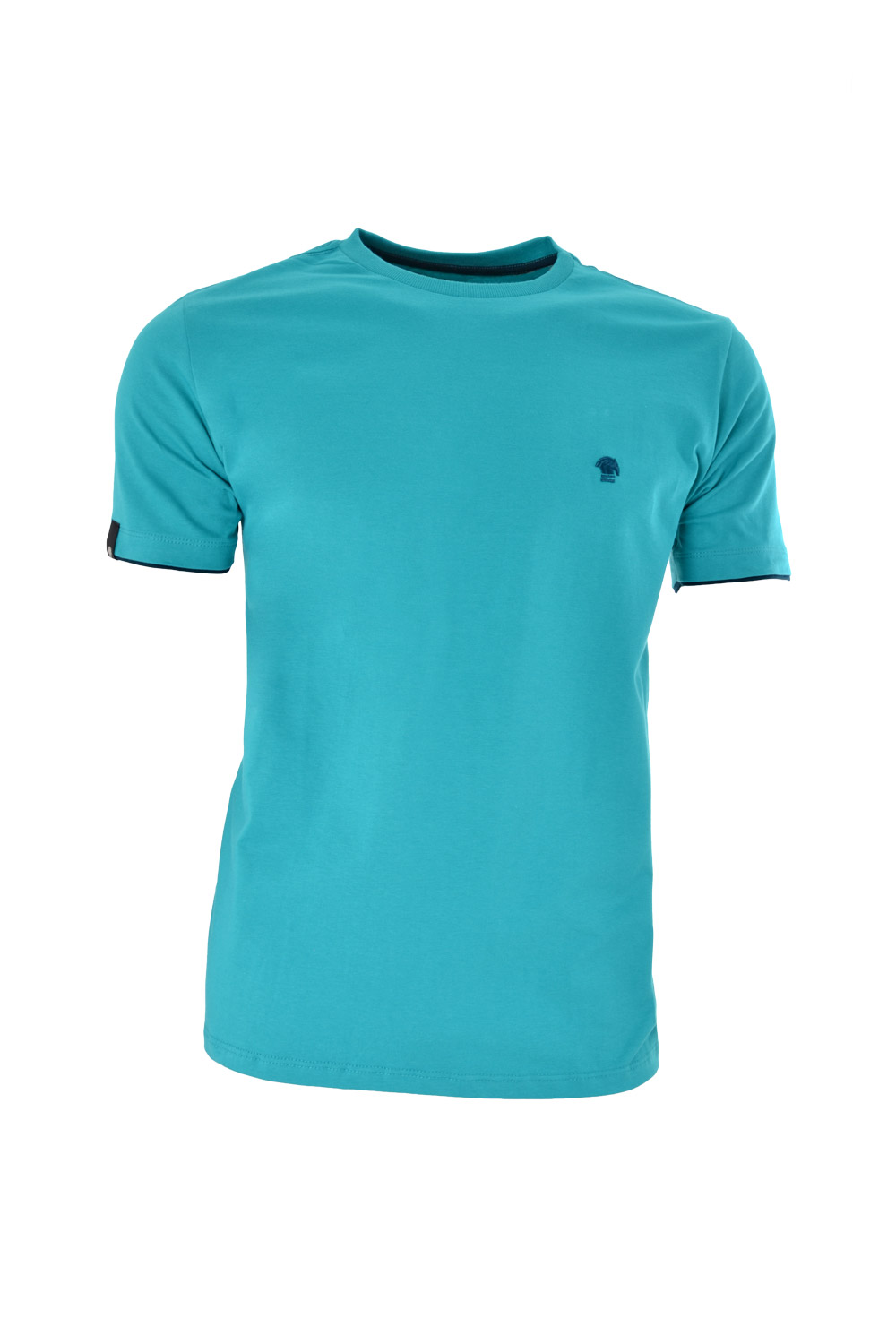 CAMISETA MC BLUES SUPER SLIM ALGODAO GOLA C LISO VERDE MEDIO