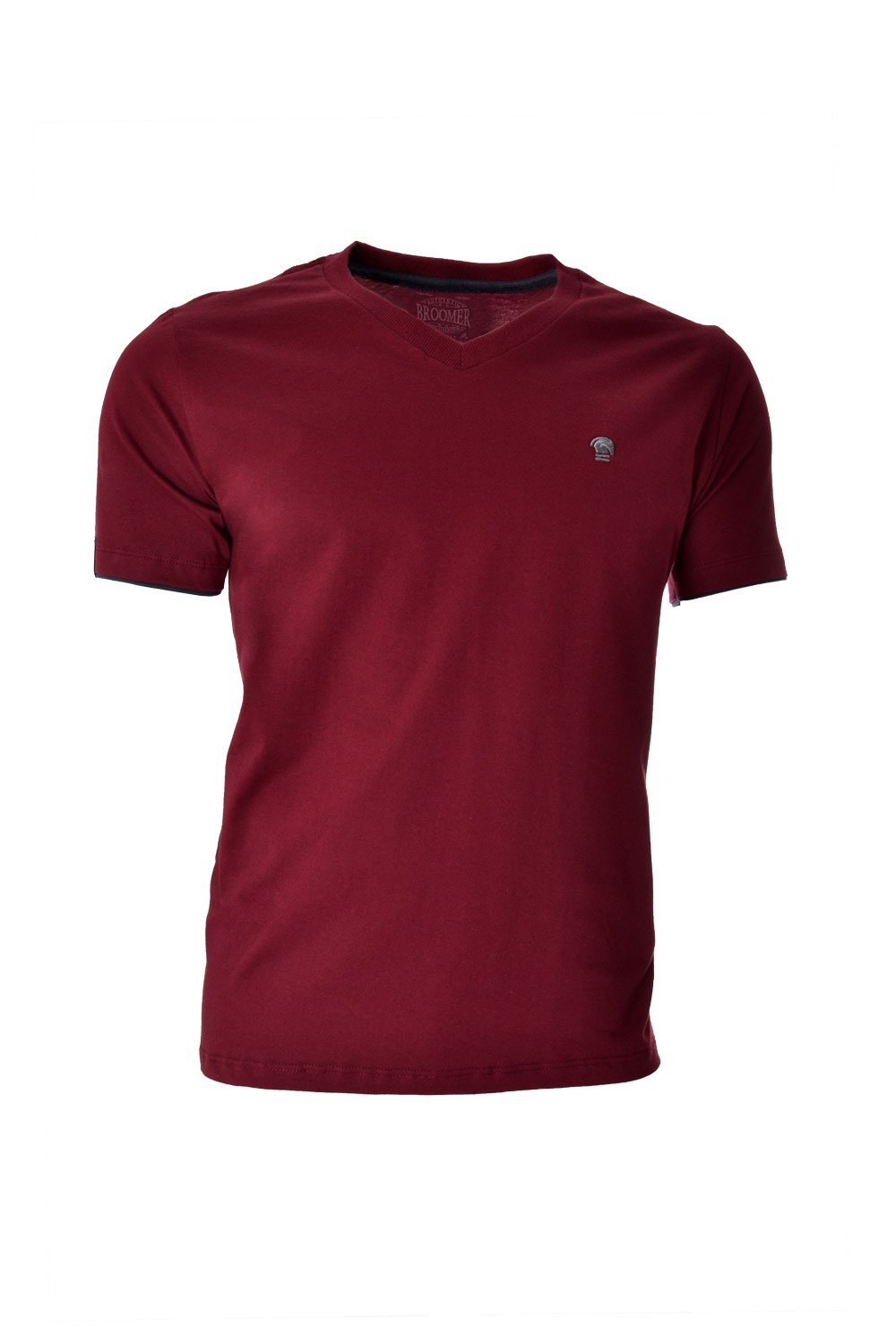 CAMISETA MC BLUES SUPER SLIM ALGODAO GOLA V LISO BORDO