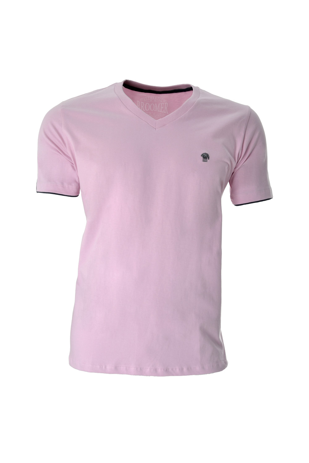 CAMISETA MC BLUES SUPER SLIM ALGODAO GOLA V LISO ROSA CLARO