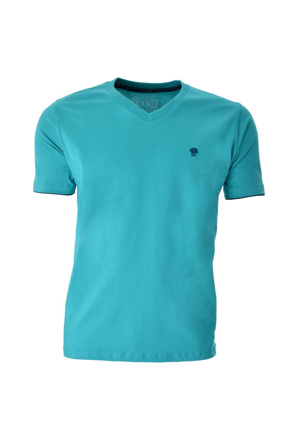 CAMISETA MC BLUES SUPER SLIM ALGODAO GOLA V LISO VERDE MEDIO