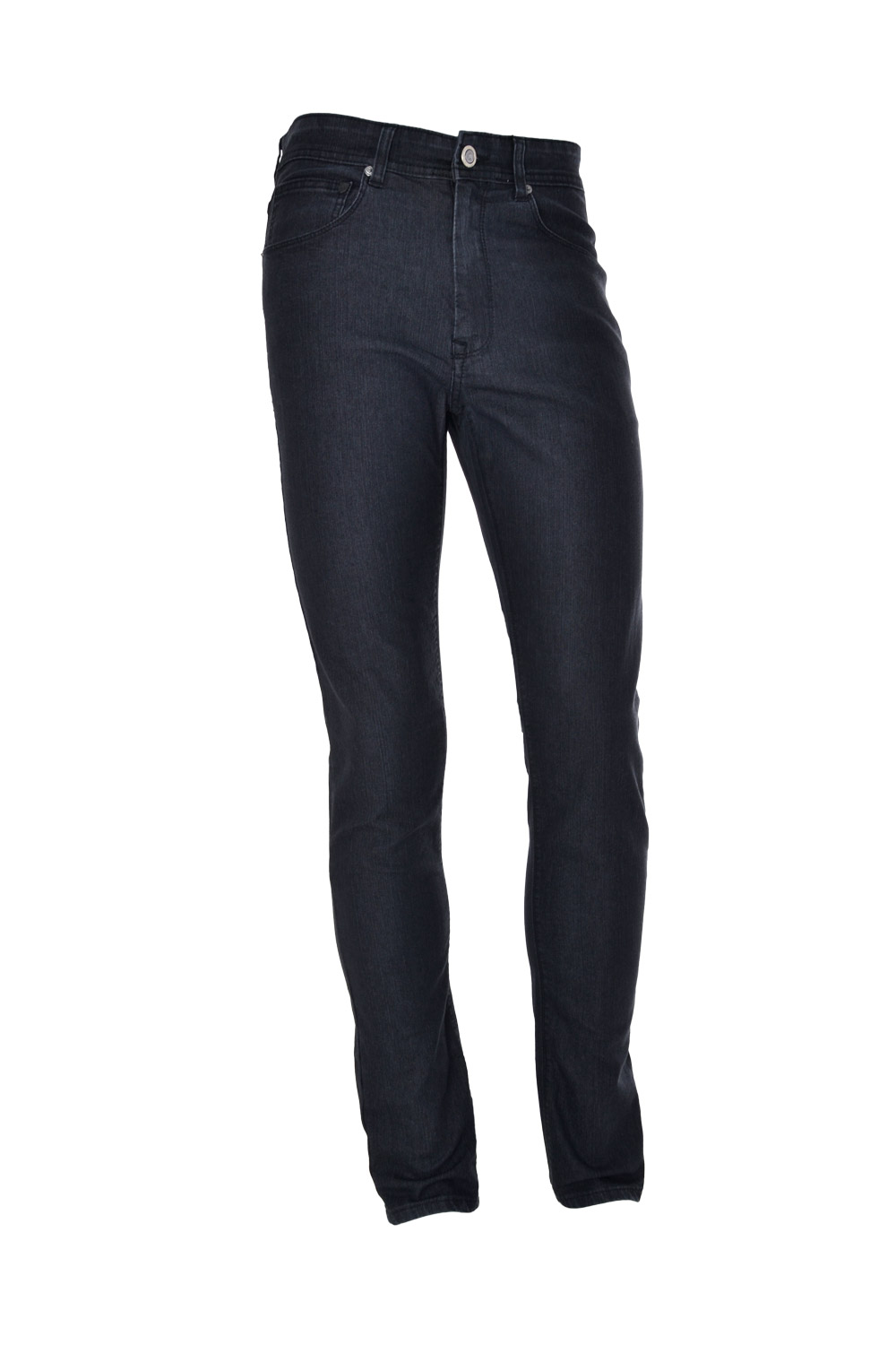 CALÇA JEANS BLUES SLIM POLIALGODAO & ELASTANO STRETCH LISO BLACK BLACK