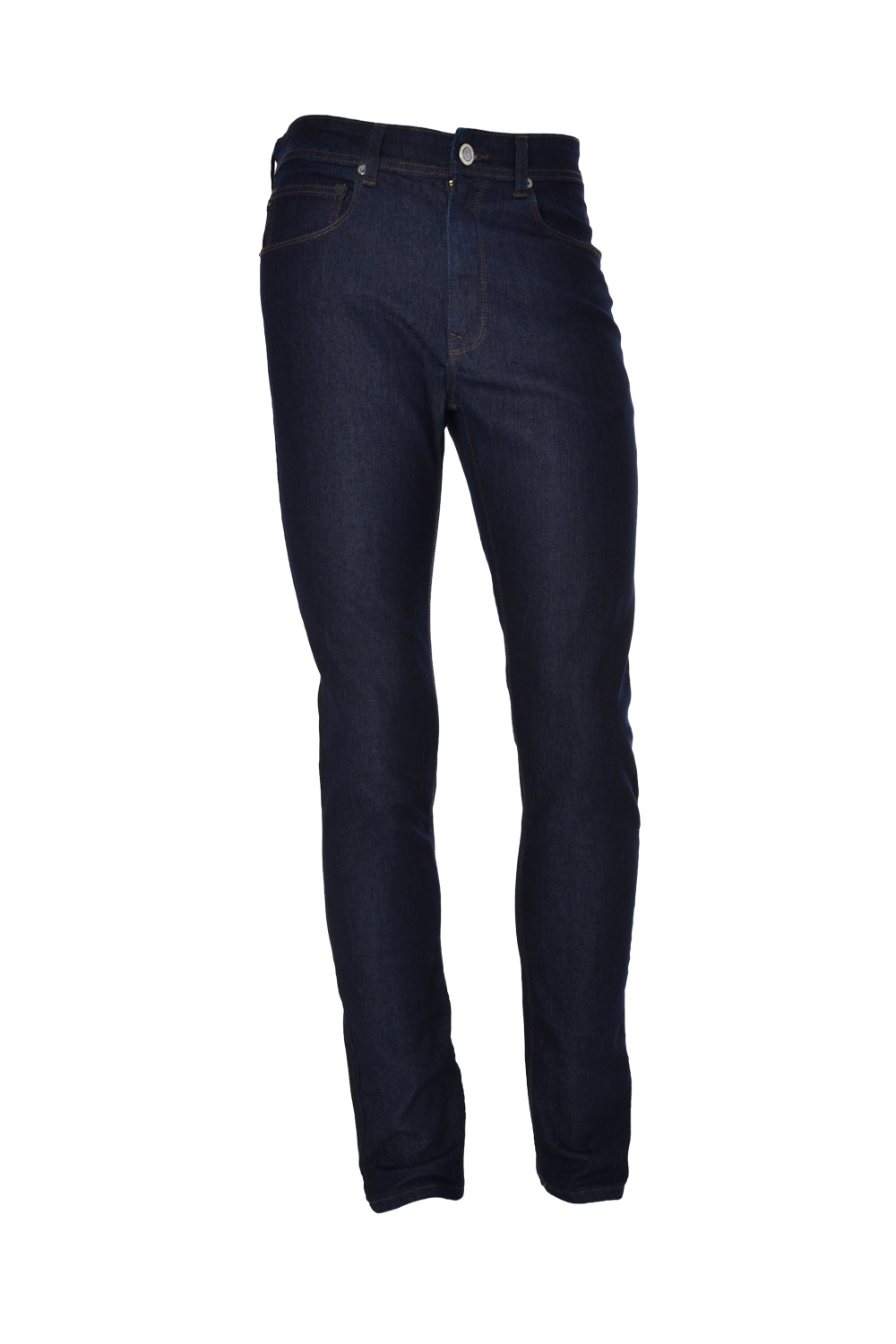 CALÇA JEANS BLUES SLIM POLIALGODAO & ELASTANO STRETCH LISO BLACK BLUE