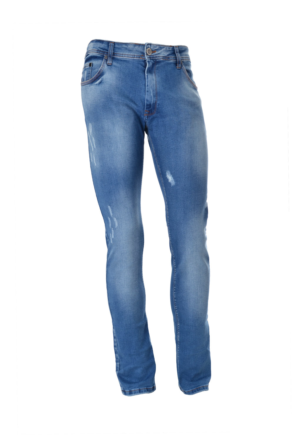 CALÇA JEANS BLUES SLIM ALGODAO & ELASTANO STRETCH STONED DELAVE