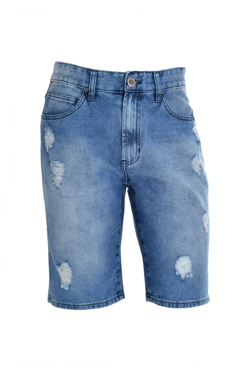 BERMUDA BLUES SLIM ALGODAO 5 POCKETS STONED DELAVE