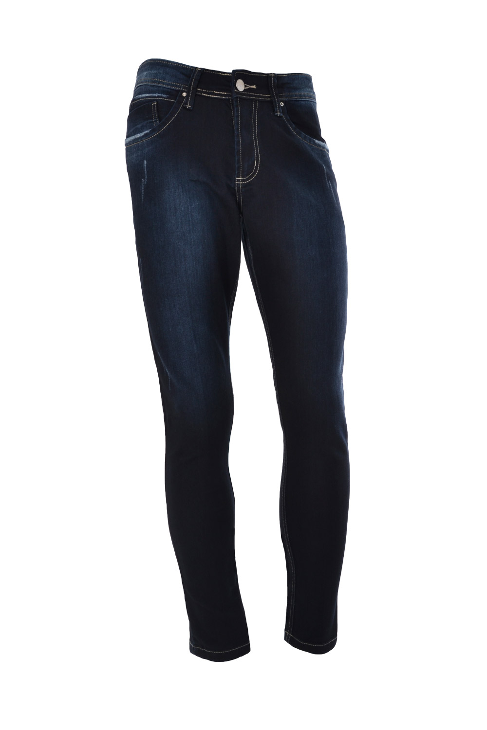 CALÇA JEANS BLUES SKINNY POLIALGODAO & ELASTANO STRETCH STONED BLACK BLUE