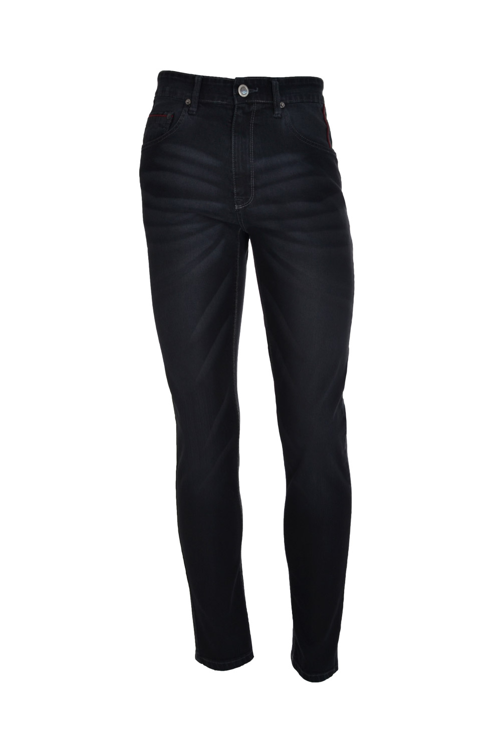 CALÇA JEANS BLUES SLIM POLIALGODAO & ELASTANO STRETCH STONED BLACK BLACK