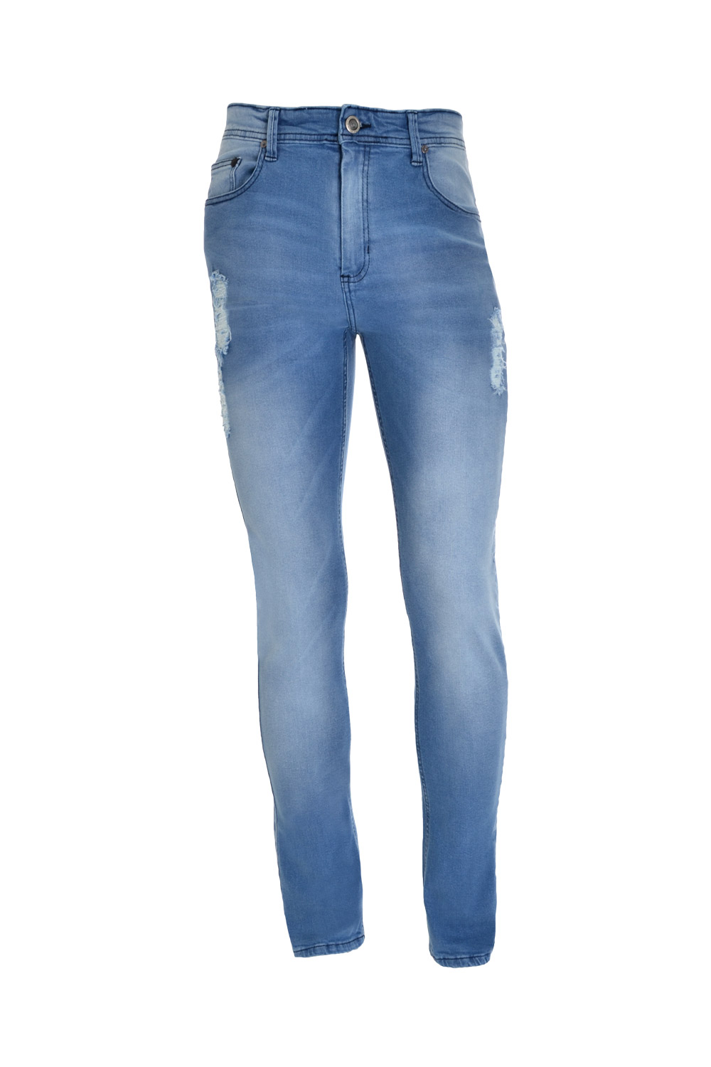 CALÇA JEANS BLUES SLIM POLIALGODAO & ELASTANO STRETCH STONED DELAVE