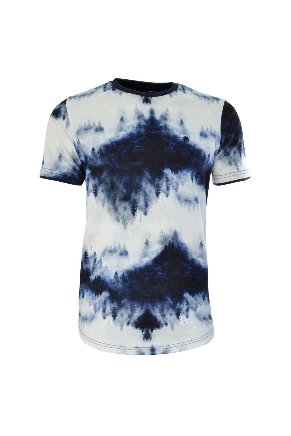 CAMISETA MC BLUES SUPER SLIM ALGODAO GOLA C ESTAMPA AZUL MARINHO